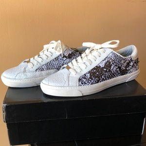 DkNY Andi Sneaker White Black Lace